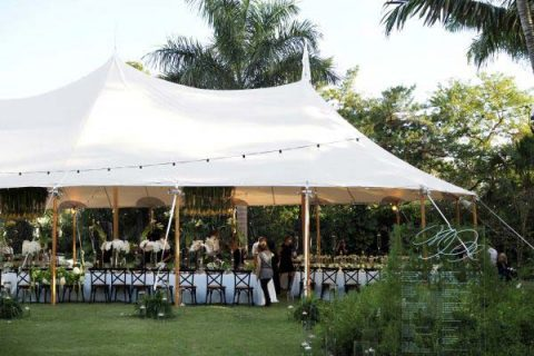 Tent in the event