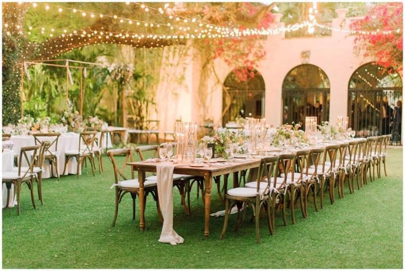 table settings outside for wedding
