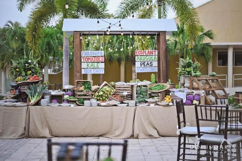 Mitzvah garden station to prepare a fresh salad