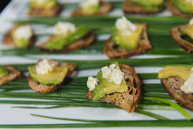 up close of professionally prepared avocado toast