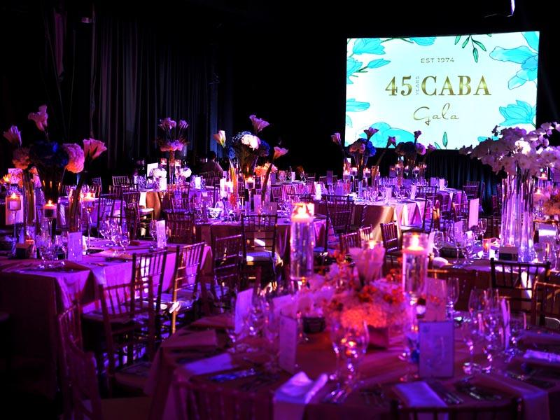 Caba Gala event table settings