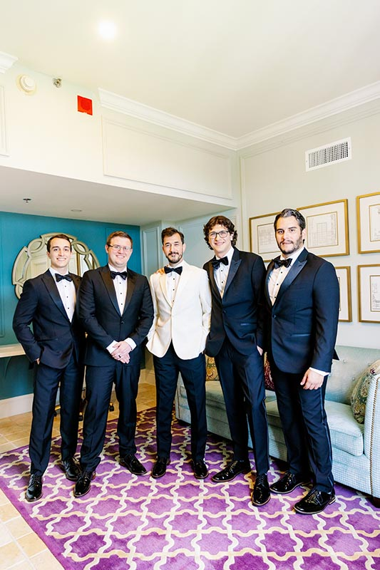 groom and groomsmen ready for the wedding