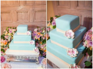 side by side of square cake