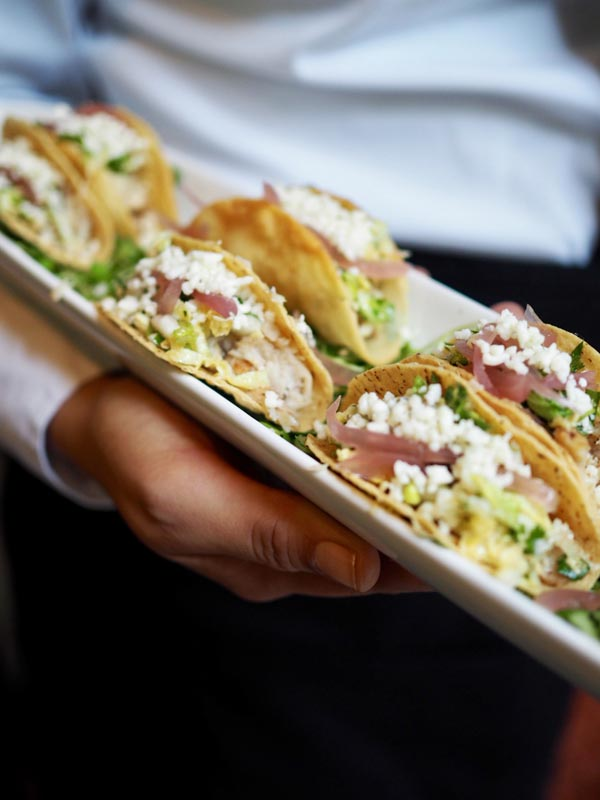corvina fish tacos with cottage cheese pickled onions and cilantro