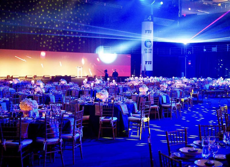 FIU Torch awards gala before guests arrived