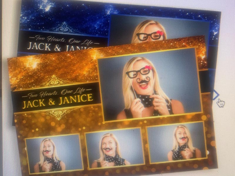 Jack & Janice photobooth card print off