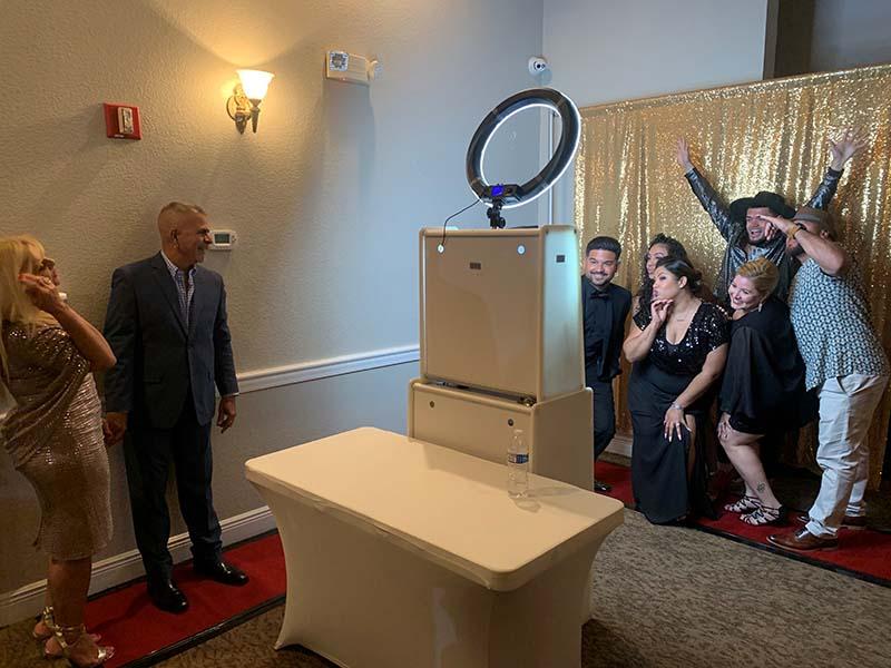wedding photobooth being used