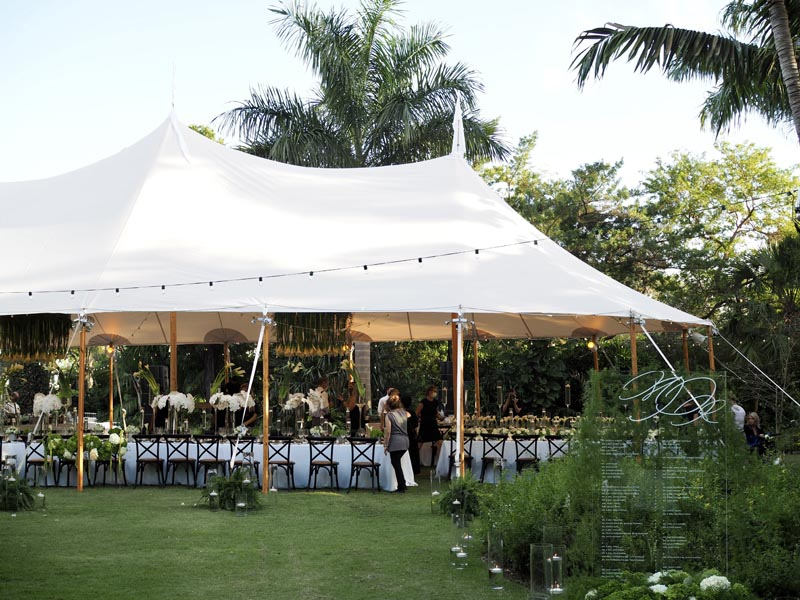 outdoor wedding venue with tent