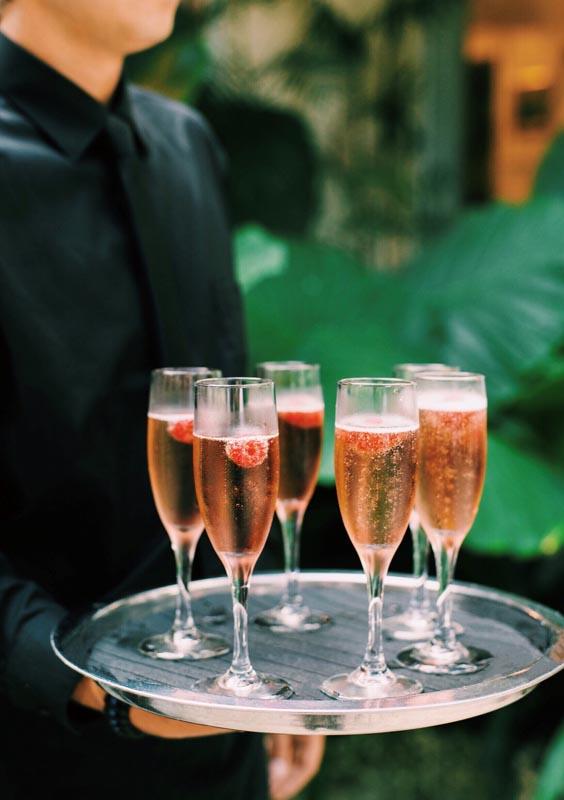 Raspberry Chambord Welcome Drink