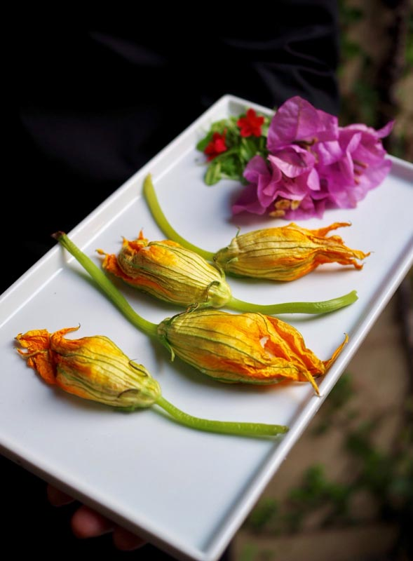dried flowers laying on a rectange plate