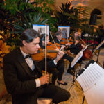 andres string quartet playing at event