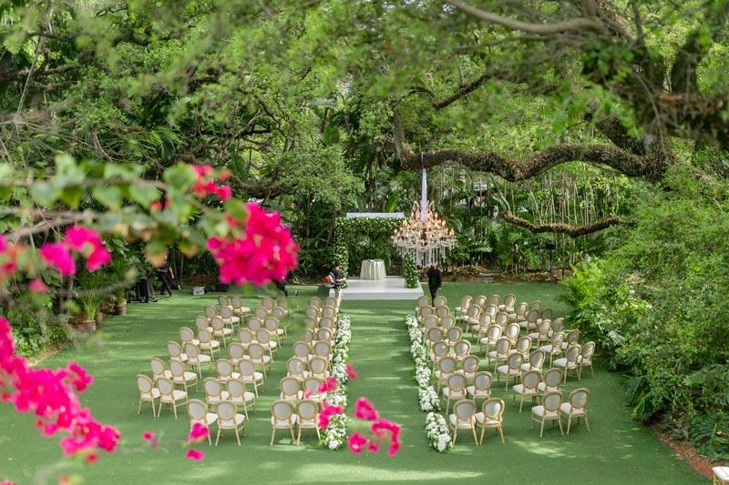 wedding venue empty with no guests yet