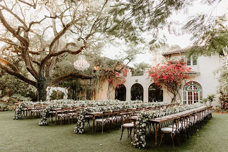wedding reception venue waiting for guests